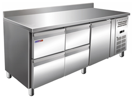 Стол с охлаждаемым шкафом COOLEQ GN3240TN БОРТИК 4 ящика+1 дверь