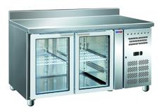 Стол с охлаждаемым шкафом COOLEQ GN2200TNG бортик стеклянная дверь