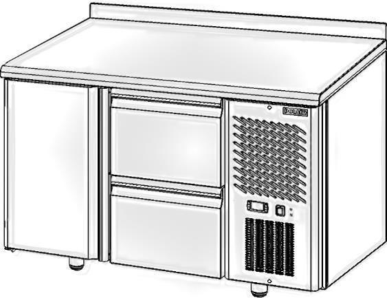 Стол с охлаждаемым шкафом POLAIR TM2-02-G