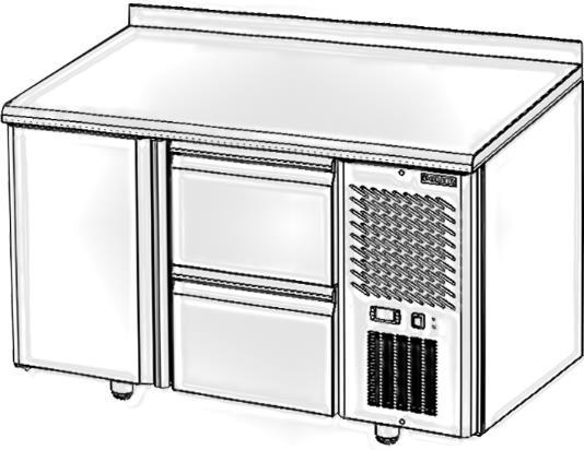 Стол с охлаждаемым шкафом POLAIR TM2GN-02-G