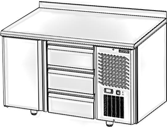 Стол с охлаждаемым шкафом POLAIR TM2GN-03-G