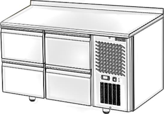 Стол с охлаждаемым шкафом POLAIR TM2GN-22-G