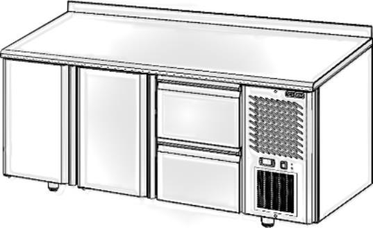 Стол с охлаждаемым шкафом POLAIR TM3GN-002-G