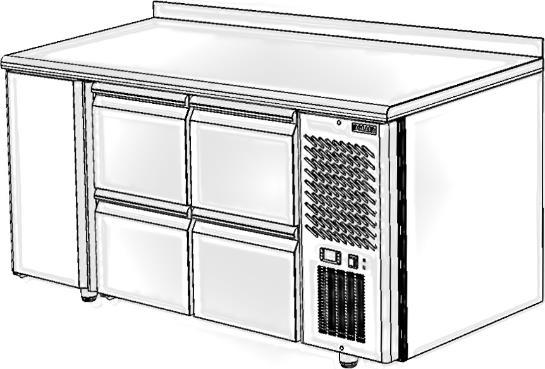 Стол с охлаждаемым шкафом POLAIR TM3GN-022-G