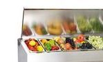 Витрина холодильная настольная POLAIR VT3-G с крышкой