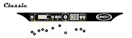 Unox Панель управления Classic конвекционных печей с пароувлажнением LineMiss Touch