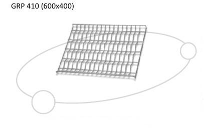 UNOX 5-канальная хромированная решетка GRP 410