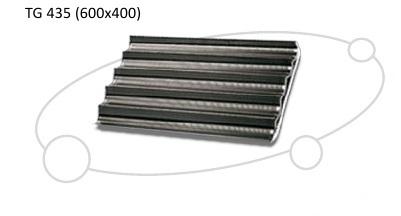 UNOX 5-канальный перфорированный алюминиевый противень с тефлоновым покрытием TG 435