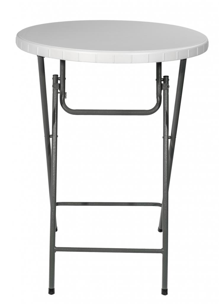 Стол кейтеринг барный S-0315 D.800 столешница пластик - вид сбоку