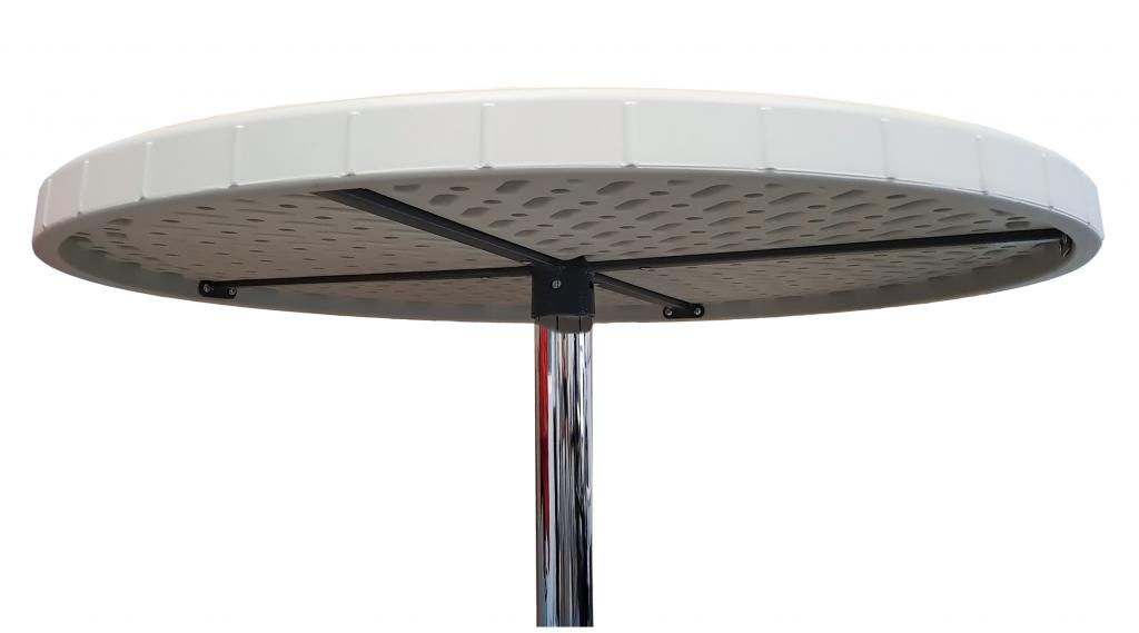 Стол для кейтеринга барный круглый S-0316 D.800 H1100 - вид снизу и сбоку