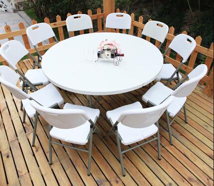Стол для кейтеринга складной круглый S-0314 D.1600 - вид на торжественном мероприятии